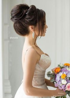 Bridal Hairstyles : Elstile Wedding Hairstyles for Long Hair / www. Bridal Hairstyles : Elstile Wedding Hairstyles for Long Hair / www. Bridal Hairstyles : Elstile Wedding Hairstyles for Long Hair / www. Wedding Hairstyles For Long Hair, Wedding Hair And Makeup, Bride Hairstyles, Bridal Hair, Hairstyle Ideas, Hair Wedding, Peinado Updo, Haircuts For Fine Hair, Long Haircuts