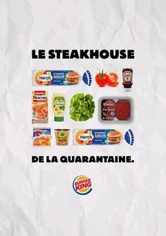 With fast food restaurants closed, Burger King France with agency Buzzman offers those in lockdown a chance to recreate the magic of the Whopper at home Sandwich Burger King, Burger King Uk, Graphic Design Lessons, Bacon, Fast Food Restaurant, Cookies Policy, Creative Advertising, C'est Bon, Print Ads