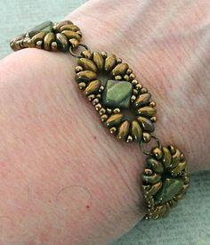 Linda's Crafty Inspirations: Bracelet of the Day: Duo Silky Bracelet - Jade & Olive