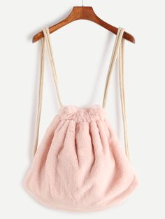 Shop Pink Rope Strap Faux Fur Bucket Backpack online. SheIn offers Pink Rope Strap Faux Fur Bucket Backpack & more to fit your fashionable needs.