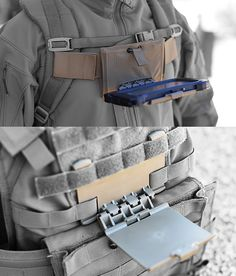 Chest-Mounts (Sternum-Strap above, MOLLE/PALS below)