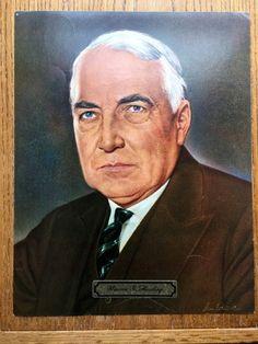 """Vintage 1969 President """"Warren G Harding"""" 11 X 14 Color Print"""