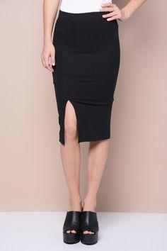 Ribbed Pencil Skirt $8.99