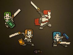 Castle Crashers perler bead Sprites by Katinkha - http://www.pixelgasm-forum.com/viewtopic.php?f=2&p=32546#p32361