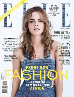 Emma Watson for ELLE SA January 2015 Issue