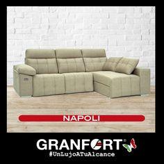 Nuestro sofá Napoli de Sofás Granfort hace que tus momentos de relax sean aún mejores, disfruta de su comodidad y su diseño exclusivo a un precio increíble. #LujoATuAlcance