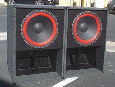 Gauss 18 4883 (Red) woofer subwoofer speaker pair in Musical Instruments & Gear, Pro Audio Equipment, Monitors & Speakers