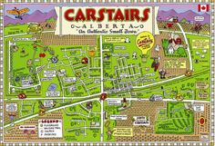 Map of Carstairs Enjoy the small town with easy access to Airdrie or Calgary in 2020 Cartoon map Map Small towns