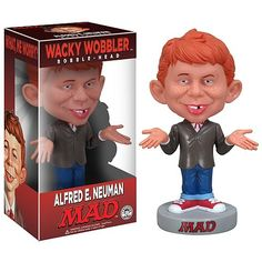 Funko 02404 Wacky Wobbler Mad - Alfred E. Neuman Pop Culture for sale online Vinyl Figures, Action Figures, Alfred E Neuman, 80 Tv Shows, Wacky Wobbler, Gap Teeth, Casper The Friendly Ghost, Cover Boy, Mad Magazine