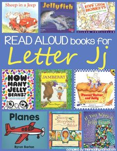 Read Aloud Books for Letter J - Letter J Book list | This Reading Mama