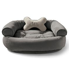 Our best-in-class Comfy Pet Couch is crafted as well as sofas designed for people. Ultra-plush, this pet couch offers unsurpassed support that ordinary dog beds can match. We also toss in a bone pillow that can be personalized. Now that a treat any dog would love!                         Inside, a 1-1/2-thick orthopedic foam cushion and lofty spun-polyester fill relieve pressure points and provide support; view diagram             Outside, breathable microvelvet, 8 times stronger than co...