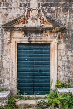 Door in Ston, Croatia