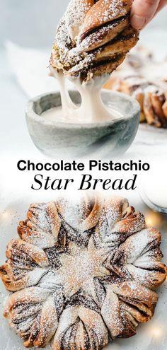 Christmas Bread, Christmas Deserts, Christmas Chocolate, Christmas Star, Christmas Baking, Christmas Recipes, Christmas Foods, Christmas Cookies, Holiday Desserts