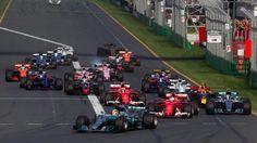 Lewis Hamilton (GBR) Mercedes-Benz F1 W08 Hybrid leads at the start of the race at Formula One World Championship, Rd1, Australian Grand Prix, Race, Albert Park, Melbourne, Australia, Sunday 26 March 2017. © Sutton Motorsport Images