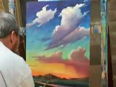 HOW TO PAINT CLOUDS SUNSET IMPRESSIONIST LESSON PAINTING OIL ORIGINAL HOW T  williamhawkins.blogspot.com #OilPaintingSunset