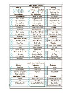 Daily And Weekly Detailed Cleaning Checklist Editable  Fly Lady