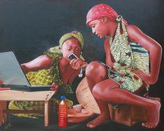Jeremiah Quarshie Paints Realistic Portraits of Ghanaian Women. Black Fashion Designers, Hyper Realistic Paintings, Black Models, Art Pages, Deco, Artist Art, Contemporary Artists, Fashion Models, Portrait