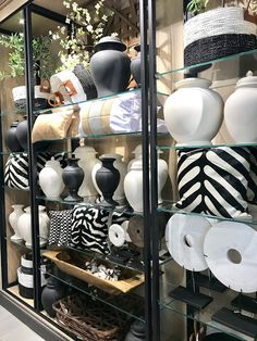 Being a designer for over 20 years I frequently source from Ballard Designs . the great brand started by Helen Ballard Weeks in Ginger Jar Lamp, Ginger Jars, Ballard Designs, Store Fronts, White Pitchers, Blue And White, Black, Family Room, Pillows