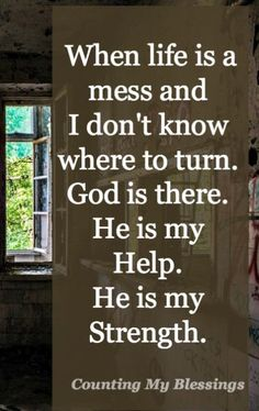When life is hard and you don't know what to do or where to turn it's comforting to know God is our Help . the perfect loving parent. Keep The Faith, Faith Hope Love, Faith In God, Love The Lord, Gods Love, When Your Heart Hurts, Youversion Bible, Prayer And Fasting, Inspirational Verses
