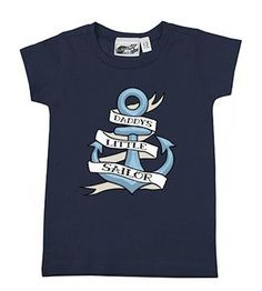 Daddy's Little Sailor Anchor Navy Blue T-shirt