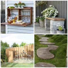 Discover 10 ideas how to re-use leftover decking timber if you want to avoid waste and create another DIY project for your garden. Window Planters, Planter Boxes, Stepping Stone Paths, Al Fresco Dinner, Outdoor Side Table, Privacy Walls, Flower Seeds, Decking, Wood Projects