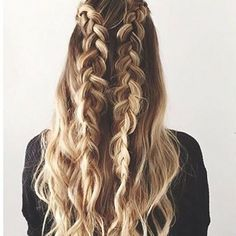 Beautiful braids  #hairspo #instablond #ombre #braids #fishtailbraid #beachhair #tousled #waves #rapunzel