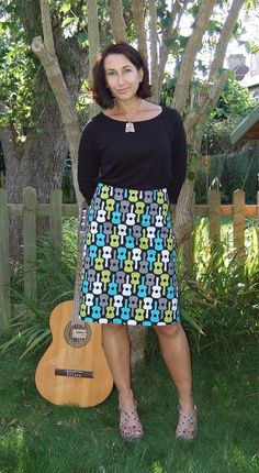 How to draft a skirt block, and make an a-line skirt! :)