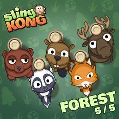 My kong (forest 5/5) on game Sling Kong 💖 #SlingKong