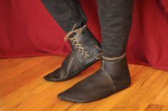 Margate: Medieval Style Handmade Leather Shoe. $120.00, via Etsy.