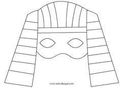 maschera-egiziana2 Ancient Egypt Lessons, Ancient Egypt Activities, Ancient Egypt Crafts, Ancient Egypt For Kids, Egyptian Crafts, Egyptian Mask, Egyptian Costume, Tribal Makeup, Preschool Art Activities