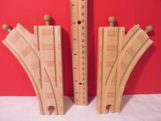 Wooden Switch Tracks (2) for Thomas Trains Wooden Railway 6""