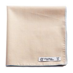 Glass House shirtmakers Reclaimed Camel Gingham Cotton Pocket Square
