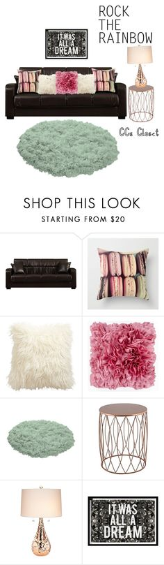 """""""Just a Dash Of Color"""" by ccscloset ❤ liked on Polyvore featuring interior, interiors, interior design, home, home decor, interior decorating, Ethan Allen, Surya, Kathy Ireland and Oliver Gal Artist Co."""