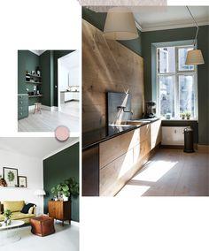 La déco se met au vert. Sauge, olive ou tirant vers le kaki, la couleur verte s'affiche au mur.