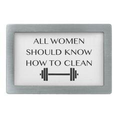 Weightlifting For Women Rectangular Belt Buckle