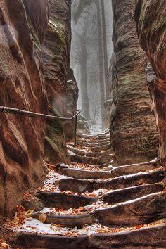 Prachov Rocks by Stevacek
