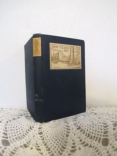 Antique book, Old New York, New Year's Day, The Seventies, Edith Wharton, 1924, charming gift, out of print, library card pocket in back