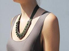 washer ribbon necklace