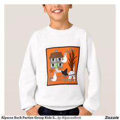 Alpacas Rock Parties Group Kids Sweatshirt