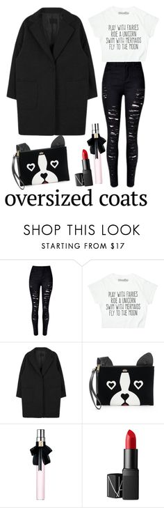 """""""Oversized Coats"""" by brunettediary ❤ liked on Polyvore featuring Juicy Couture, Yves Saint Laurent, NARS Cosmetics and oversizedcoats"""