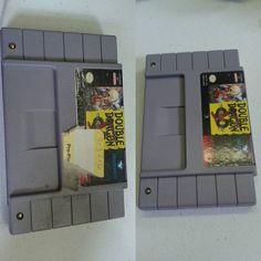 Removing those pesky stickers! #retrofixgaming #retrofix #videogames #nintendo #snes #supernintendo #restoration
