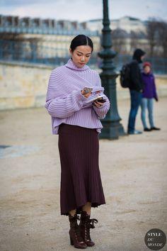 Paris Fashion Week FW 2016 Street Style: Yoyo Cao http://sodafirm.com/