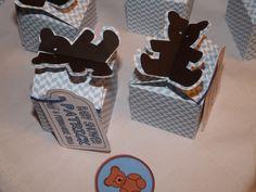 Teddy bear box with tag