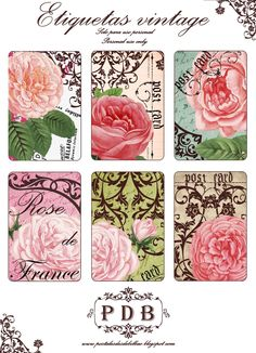 Creative digi vintage: beautiful rose printables