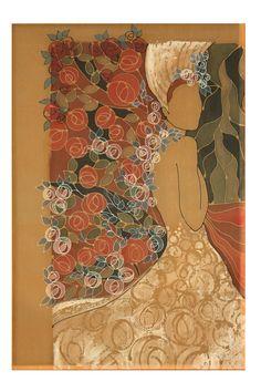 The Wedding Day - Silk Painting - Marie Adamyan