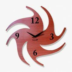 Wooden Wall Clocks   Chakri Wooden Wall Clock - CKPUSWAN1009