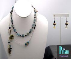 Unique Kyanite Necklace Set by PrismBouquets on Etsy, $95.00