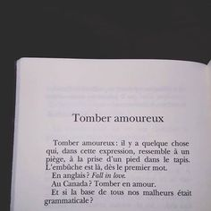 Tomber amoureux...