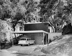 front, Lamel House, 1953 Pierre Koenig, Los Angeles