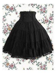 Black Lace Decoration Cotton Lolita Skirt Lolita Clothing